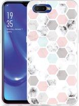 Oppo RX17 Neo Hoesje Marmer Honeycomb