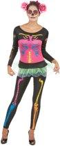 Neon skelet kostuum met shirt tutu en legging | maat S (36 -38 )