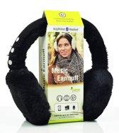 Sharon Music Bluetooth-gehoorbeschermers| Draadloze hoofdtelefoon Stereo luidspreker Microfoon Draadloze oorwarmer Compatibel met smartphones | zwart