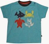 Minymo - jongens T-shirt - vis - blauw - Maat 92