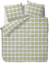 Marc O'Polo Sunrise Check Dekbedovertrek - 150x210 + 50x60 cm - White