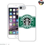 Case Creatives Telefoonhoesje Starbucks -  iPhone 7, 8  Zwart - Handgemaakt