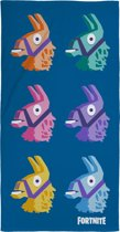 Fortnite Llama strandlaken - 70x140 cm - Blauw