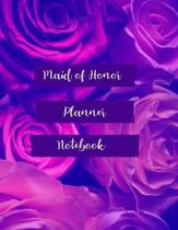 Maid of Honor Planner Notebook: Wedding Party Notebook and Task Tracker with Stylish Roses Design