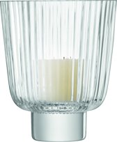 L.S.A. Pleat Windlicht - Glas - 21,5 cm - Transparant