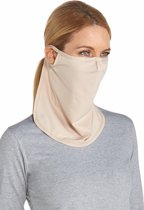 Coolibar UV gezichtsmasker Unisex - Beige - Maat L/XL