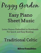 Peggy Gordon Easy Piano Sheet Music