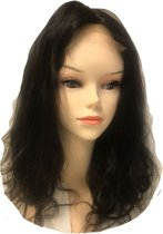 Double F Cosmetics 100% Human Hair Lace Front Wig Natural Body Wave 50cm
