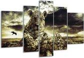 Glasschilderij Natuur | Geel, Groen, Zwart | 170x100cm 5Luik | Foto print op Glas |  F003929