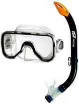 IST Sports Duikbril en Snorkel voor kinderen van 6 tot 13 jaar - zwart siliconen