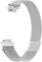 SmartphoneClip Milanees bandje - Fitbit Inspire (HR) - zilver