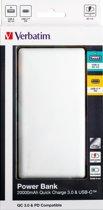 Verbatim 49577 Dual Powerbank 20000 mAh Quick Charge Aluminium