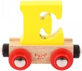 Bigjigs - Rails - Naamtrein - Letter E - Oranje