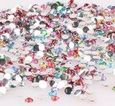 2000x  decoratieve strass stenen | 3mm | Multicolor | Nagelversiering | Nageldecoratie