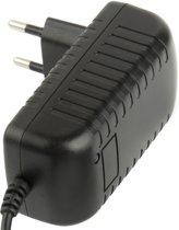 Hoge kwaliteit EU stekker AC 100-240V naar 12V 2A gelijkstroomadapter  Tips: 5.5 x 2.1 mm  lengte van de kabel: 1m(Black)