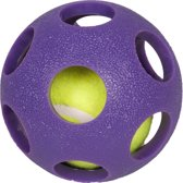 Flamingo Hondenspeelgoed Ball + Tennisbal - Paars - 9 x 9 x 9 cm