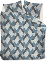 Beddinghouse Montero - Flanel - Dekbedovertrek - Lits-jumeaux - 240x200/220 cm + 2 kussenslopen 60x70 cm - Blue