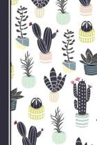 Cute Cactus Theme Notebook for Girls 6x9