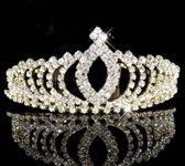 Elegante Goudkleurige Fonkelende Tiara / Kroon