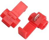 Draad connectors/aftakklem | rood | 10 stuks