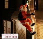 Trend24 - Kerstman - Lichtgevende ladder - 240 cm
