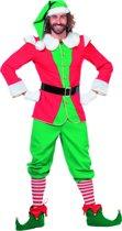 Kerst elf kostuum rood/groen voor heer