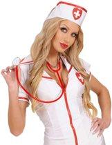 Rode stethoscoop voor volwassenen - Verkleedattribuut