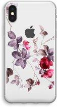 iPhone XS Transparant Hoesje (Soft) - Mooie bloemen