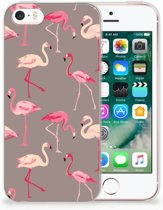iPhone SE | 5S Uniek TPU Hoesje Flamingo