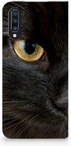 Samsung Galaxy A70 Bookcase Hoesje Zwarte Kat