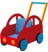 Hab duwwagen loopwagen blauw rood