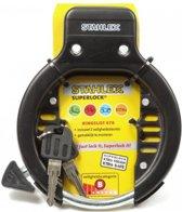Fietsslot - Ringslot -  2 sleutels inclusief alle toebehoren - ijzersterk - Zwart