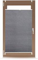 relaxdays plissegordijn - plissé jaloezie grijs - zonder boren - opvouwbaar - vers. maten 60x130cm