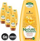 Schwarzkopf  Nature Moments Honey Elixer Conditioner 200 ml - 6 stuks - Voordeelverpakking