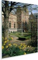 De tuinen van het beroemde Rijksmuseum in Amsterdam Plexiglas 120x180 cm - Foto print op Glas (Plexiglas wanddecoratie) XXL / Groot formaat!