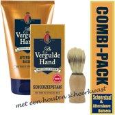 Combi-pack vergulde hand aftershave balsem & scheerstaaf