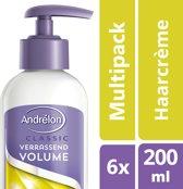 Andrélon Verrassend Volume Haarcrème - 6 x 200 ml - Voordeelverpakking
