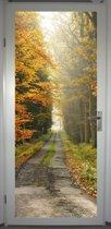 Deurposter 'Laantje in herfst 2' - deursticker 75x195 cm
