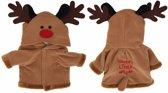 Rendier kerstpakje voor de hond 55 cm