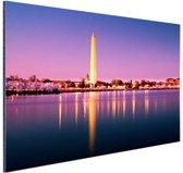 Washington Monument Aluminium 30x20 cm - klein - Foto print op Aluminium (metaal wanddecoratie)
