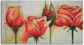 Schilderij - Rode rozen