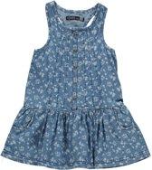 Losan Meisjes Jurk Blauw met witte bloemetjes - B45 - Maat 92
