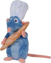 Remy Ratatouille knuffel met stokbrood 30 cm groot