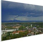 Uitzicht over Oberhausen in Duitsland Plexiglas 160x120 cm - Foto print op Glas (Plexiglas wanddecoratie) XXL / Groot formaat!