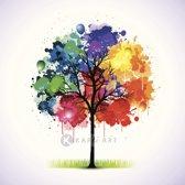 Schilderij - Gekleurde boom