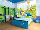 Fotobehang Disney, Winnie De Poeh | Groen, Geel | 208x146cm