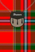 Brewer Clan Tartan Journal/Notebook