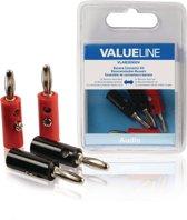 Valueline VLAB26900V Banaan Zwart, Rood kabel-connector