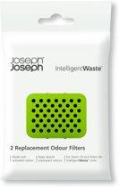 Joseph Joseph Intelligent Waste Geurfilter - Carbon - Set van 2 stuks - Zwart