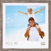 Deknudt Frames Blokprofiel in grijsbeige houtkleur fotomaat 50x60 cm
